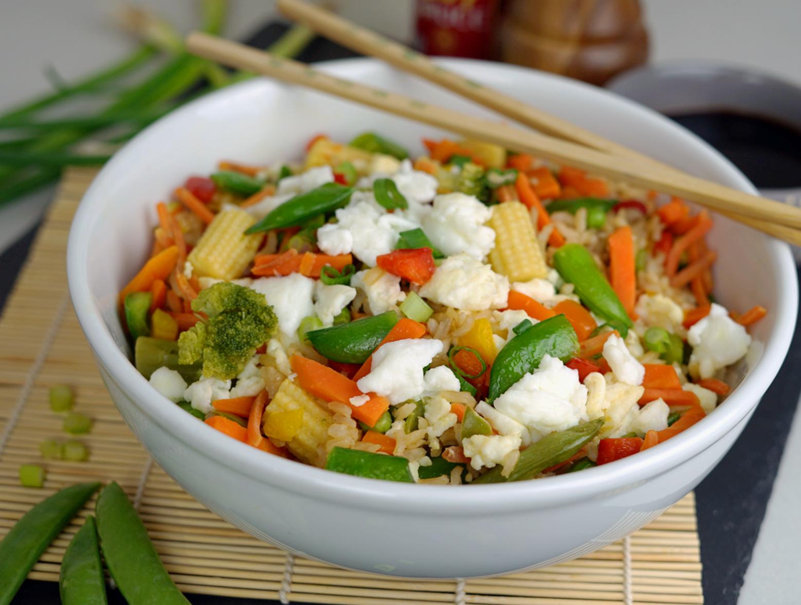 photo of prepared Veggie Fried Rice recipe