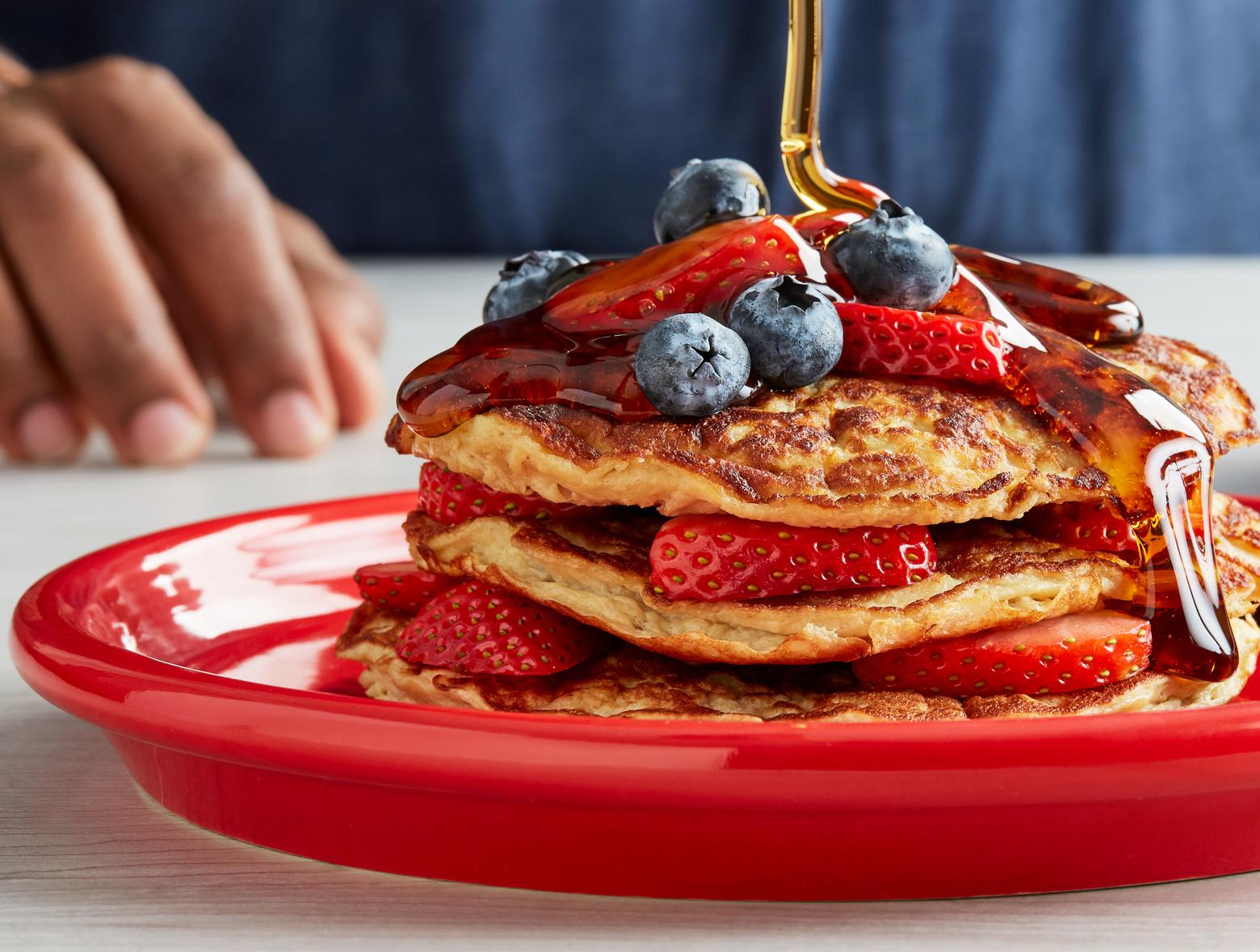 photo of prepared Strawberry Protein Pancakes recipe