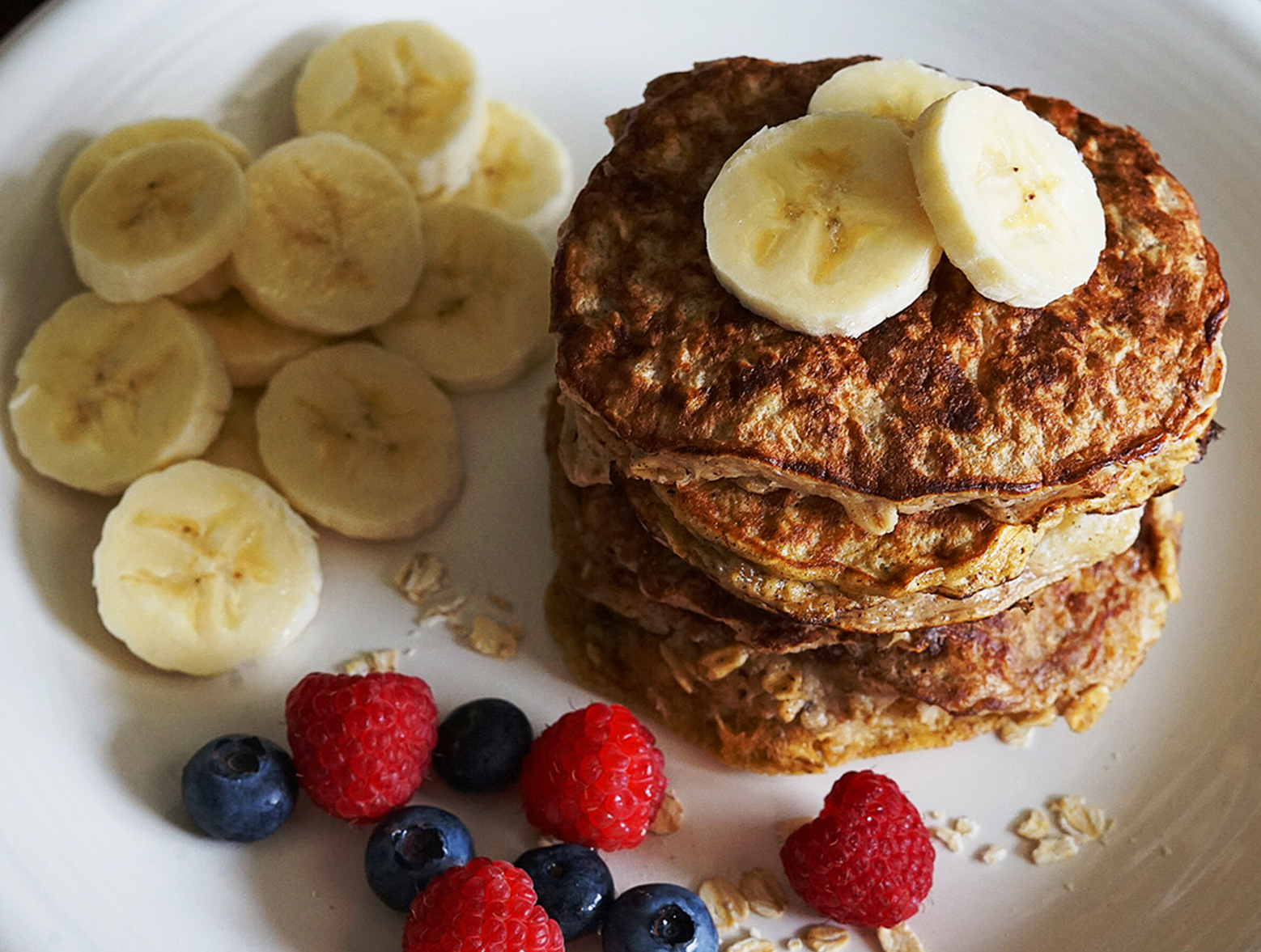 photo of prepared 3 Ingredient Protein Pancakes recipe