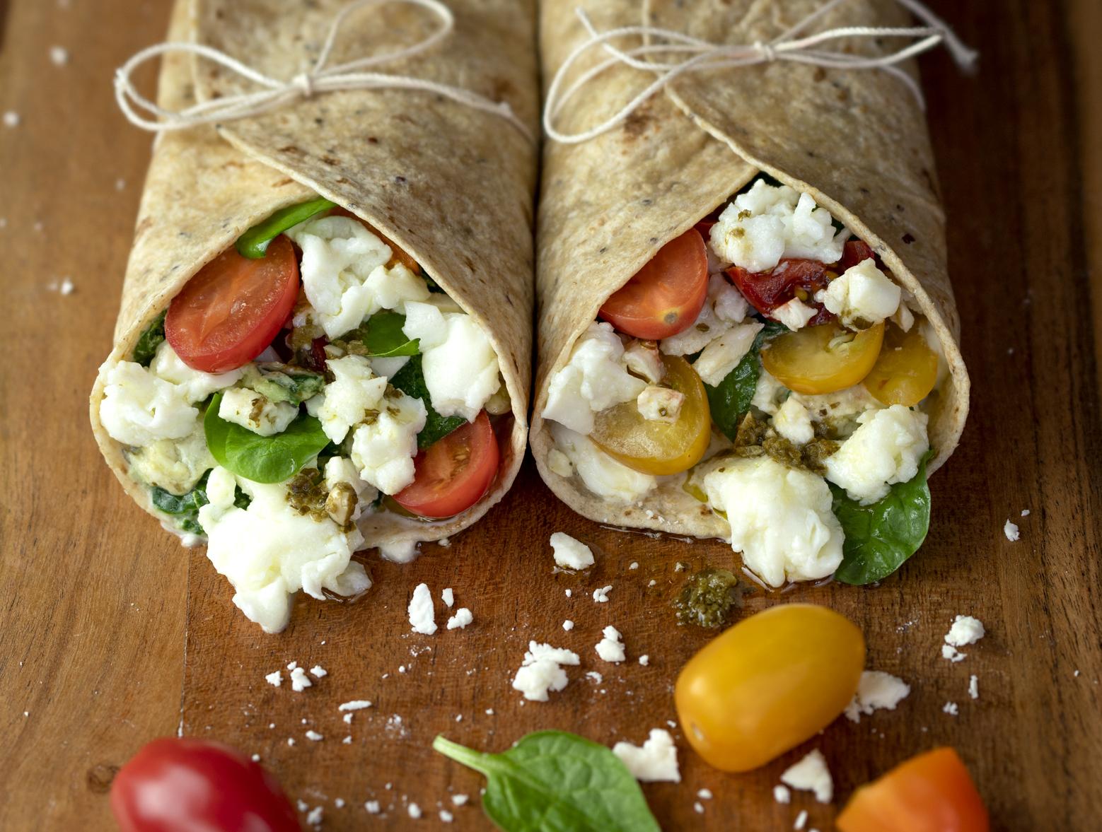 photo of prepared Spinach and Feta Wraps recipe