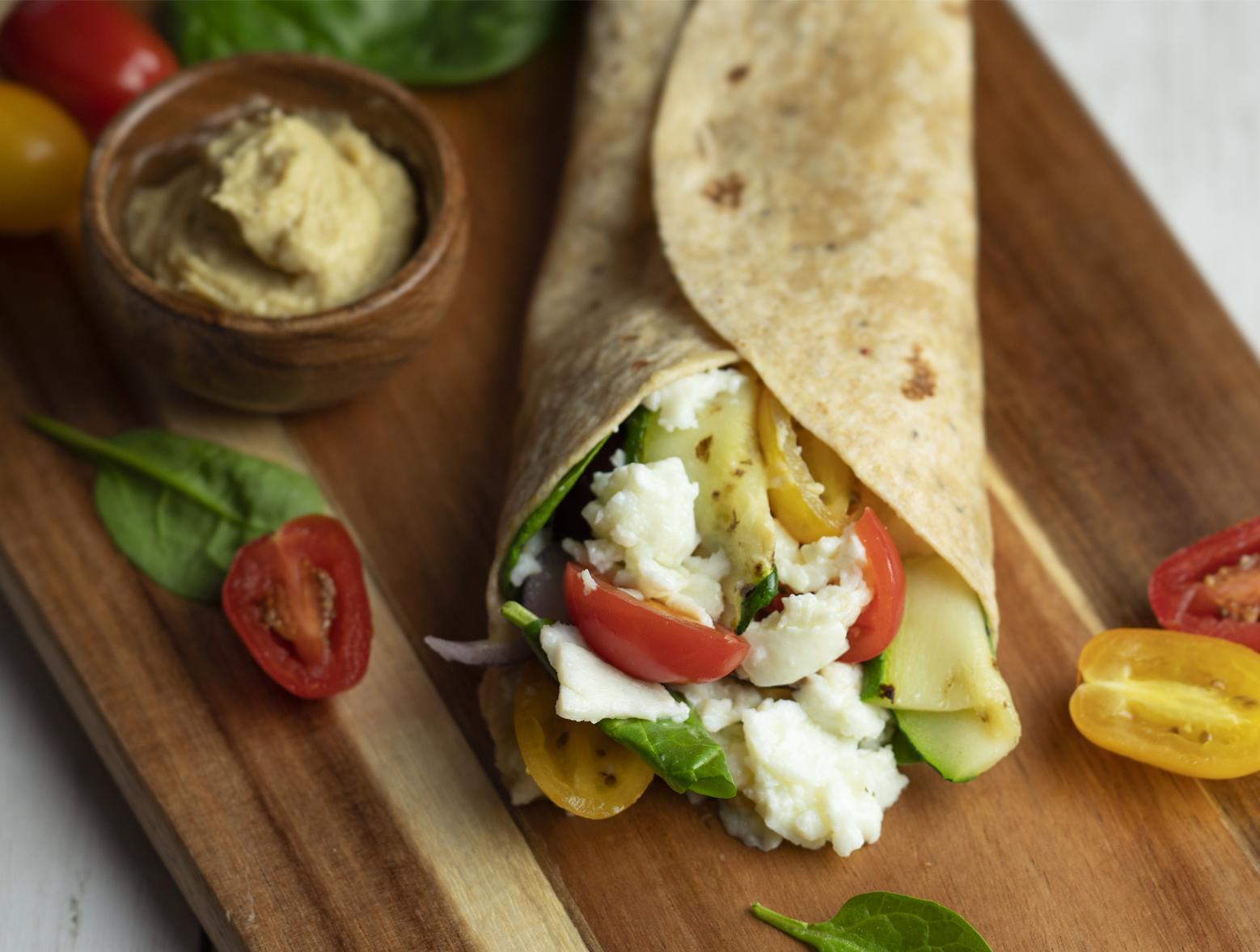 photo of prepared Spinach, Egg White & Zucchini Lunch Wraps recipe